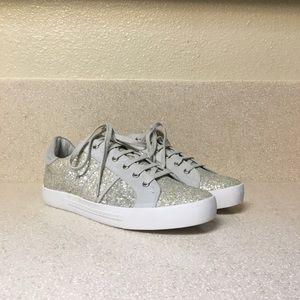 Joie 'Dakota' Glitter Sneaker In Latte Sz 39 / 9